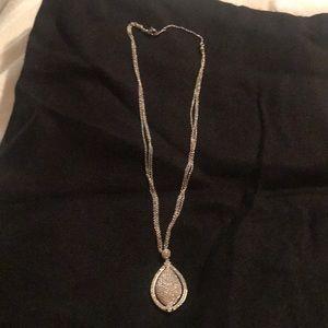Jewelry - Amazing silver with zirconium necklace .